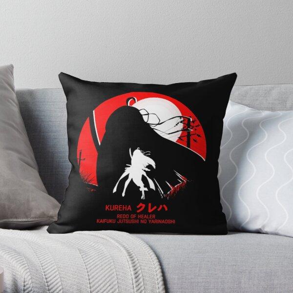 kureha - redo of healer new design cool anime Throw Pillowproduct Offical Redo of healer Merch